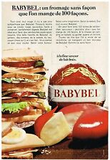 PUBLICITE ADVERSTISING  1968   BABYBEL  fromage 2