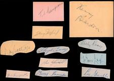 Lot of 15 1940's Montreal Canadiens Autographs Maurice Richard Lach Bouchard!