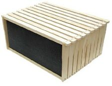 """Beehive Frames w/ Black Rite Cell Foundation 9 1/8"""" Deep Hive Body 10 Pack"""