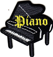 """PIANO"" IRON ON EMBROIDERED PATCH/Music, Jazz, Rock N'Roll, Musician, Piano"