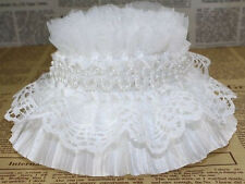 3 1/8 inch wide  elastic with beads lace trim   selling by the yard