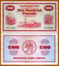 Ireland Northern Bank 100 pounds, 1978, P-192d, aUNC   Rare