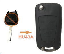New Flip Key Shell 3B for Opel Vectra Antigo Omega Suprema Agile Montana HU43A