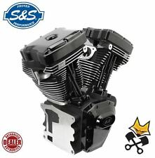 S&S T143 LONG BLOCK BLACK EDITION ENGINE HARLEY 07-17 TWIN CAM & 06 FXD 310-0837
