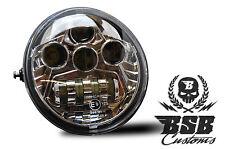LED SCHEINWERFER V-Rod mit ECE Zeichen Chrom Harley Davidson V Rod VROD einsatz