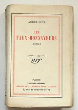 ANDRÉ GIDE : LES FAUX-MONNAYEURS / ÉDITION ORIGINALE N° / NRF / 1925