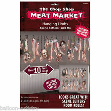 Halloween Chop Shop Meat Market Scene Setter Add-on Kit HANGING LIMBS