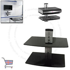 Glass LCD LED TV Wall Mount Bracket 2 Shelves For DVD Sky Box Game Consoles