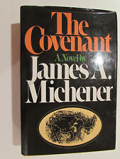The Covenant, by James Michener - 1980, Signed B/C Hardcover Book