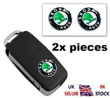 2x NEW Remote Key Fob Badge Emblem Sticker Logo for SKODA 14 mm
