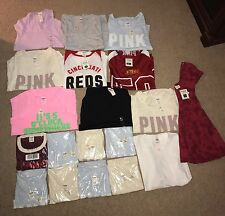 VS VICTORIA'S SECRET WHOLESALE LOT Pink Women's Clothing Lot Resale NWT 18 Pcs