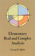 Elementary Real and Complex Analysis Dover Books on Mathematics