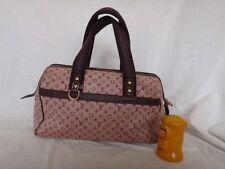 Authentic Louis Vuitton Navy Mini Lin canvas Josephine GM bag