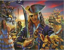 The Pirate Sword Ship Treasure 100 pc Bagged Boxless Jigsaw Puzzle