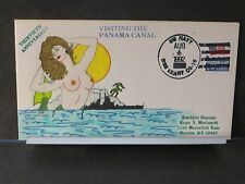 USS LEAHY CG-16 Naval Cover 1992 WENTWORTH MERMAID Cachet PANAMA CANAL