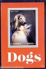 Uganda MNH SS, Dogs, Farm Animals, Afghan Hound -