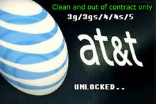 Factory Unlock service AT&T ATT USA for iPhone 3GS 4 4S 5 5C 5S only semipremium