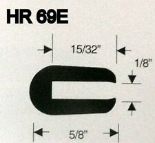 "1/8"" X 5/8"" Rubber Edge Trim HR69E SOLD BY THE FOOT in Black U Channel EPDM"