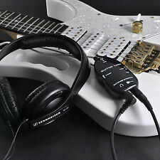 Top Black Guitar to USB Interface Link Cable Audio Adapter for PC/MAC Recording