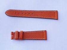 20MM GENUIANE LEATHER  ORANGE  WATCH BAND FITS PATEK PHILIPPE!
