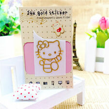 Cute Cartoon  Hello Kitty Gold Anti-Radiation Stickers For Phone Computer PSP