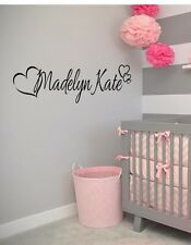 PERSONALIZED HEARTS GIRLS NAME Vinyl Wall Art Decal Kids Children Nursery Room