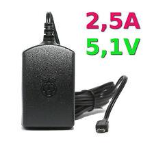 Offizielles Raspberry Pi Netzteil 2,5 A 5,1 V Original Zubehör schwarz