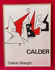Vintage Alexander Calder Stabiles Gallery Maeght Lithograph-Serigraph Poster