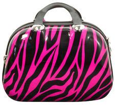 Kosmetik Reisekoffer Hartschale Handgepäck Rockabilly Zebra Pink Gr.S