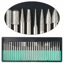 30pc Diamond Burr Bit Set for Dremel Rotary Tool 150 grit Glass Stone Ceramic