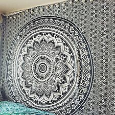 Ombre Indian Mandala Bedspread Tapestry Wall Hanging Hippie bohemian Decor Throw