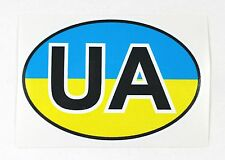 Ukrainian Car Bumper Sticker UA Country Name Code National Flag