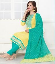 Radiant Embroidered Cotton Unstitched With Chiffon Dupatta Salwar Suite D MW7015
