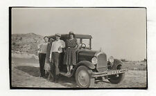 PHOTO - Automobile Voiture Auto - Groupe Bord route - Vers 1930 Traction avant.