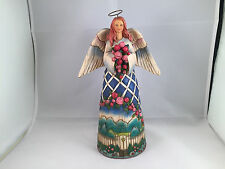 "Jim shore ""guardian of garden flowers"" stone resin heartwood creek angel figure"