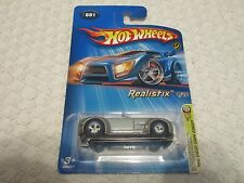 Hot Wheels 2005 First Editions Realistix Ford Shelby Cobra Concept Gray Blue Rim