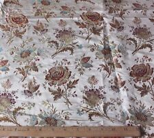 French Antique c1870 Floral Silk Brocade Dolls Dress Or Home Dec Fabric