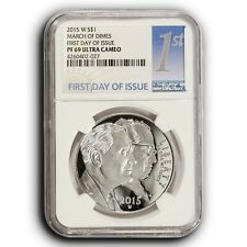 2015 W March of Dimes NGC PF69 UC First Day Of Issue Proof Silver Dollar Coin