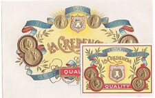 CIGAR BOX LABEL VINTAGE SET C1910 ORIGINAL EMBOSSED IN GOLD COINS HAVANA
