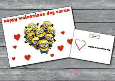 Personalised Minions Despicable Me Cute Funny Valentines Day Card