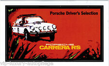 """Porsche Carrera RS  Driver`s Selection Aufkleber 45x79 mm"