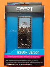 NEW GEAR4 Black Icebox Carbon Crystal Hard Case Cover for iPod Nano 4g + Lanyard