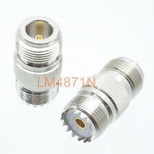 1pce Adapter SO239 UHF jack female to N female jack RF connector straight