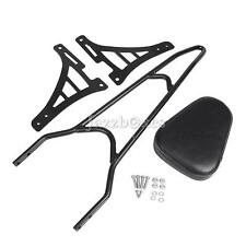 Detachable Sissy Bar Backrest Pad Fit Harley Sportster XL Iron 883 R Custom Low
