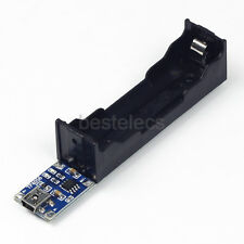 TP4056 18650 Lithium Li-ion Battery Charger Holder Board /w LED Indicator