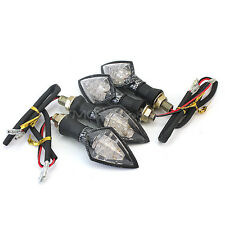 4x Moto Lámpara F5 10 LED Giro Señal Luces Intermitentes Indicadoras DC 12V