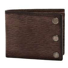 New in Box-$95.00 John Varvatos Slim Brown Distress Stud Leather Billfold Wallet