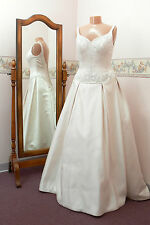 New Champagne Satin Wedding Dress, Size 10 - Mori Lee 8719