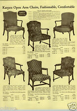 1933 PAPER AD 15 Pg Karpen Furniture Chair Sofa Love Seat Davenport