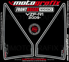 Yamaha YZF R1 2009 Black Front Fairing Number Board Motografix 3D Gel Protector